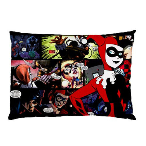 "New Batman Comic Harley Quinn pillow case 30"" x 20"" one side cover free shipping"