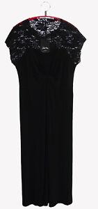 Details zu Kleid Maxikleid Made in Italy deutsche Gr. 48 44 46 schwarz Figurschmeichler NEU
