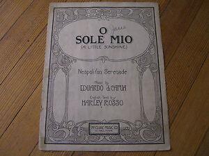 O Sole Mio - Neapolitan Serenade - diCapua/Rosso, McClure, St. Paul, MN - 1922