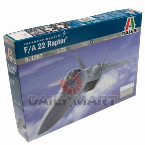 ITALERI 172 1207 U.S FA 22 Raptor War Plane Model Kit