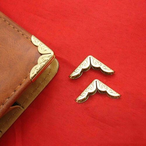100Pcs Fashion Iron Metal Book Albums Menus Folders File Corner Protectors Decor