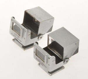 Leitz-couple-of-folding-finders-2-8cm-SUOOQ-chrome-for-Leica-28mm-Hektor