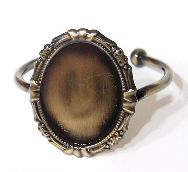 40x30 mm Antique Gold Victorian Art Nouveau Cuff Decorative Bracelet Setting