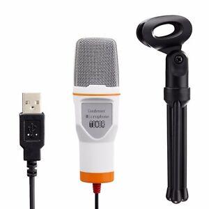 tonor usb microphone condenser podcast studio sound for pc computer laptop white ebay. Black Bedroom Furniture Sets. Home Design Ideas