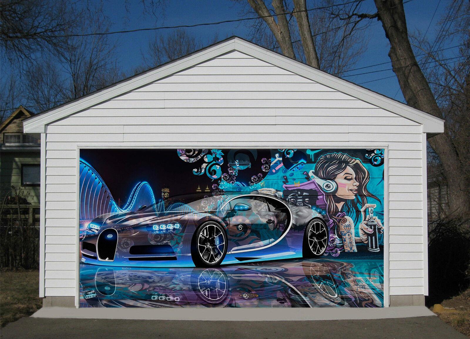 3D Auto Di Lusso 8 Garage Porta Stampe Parete Decorazione Murale AJ WALLPAPER IT