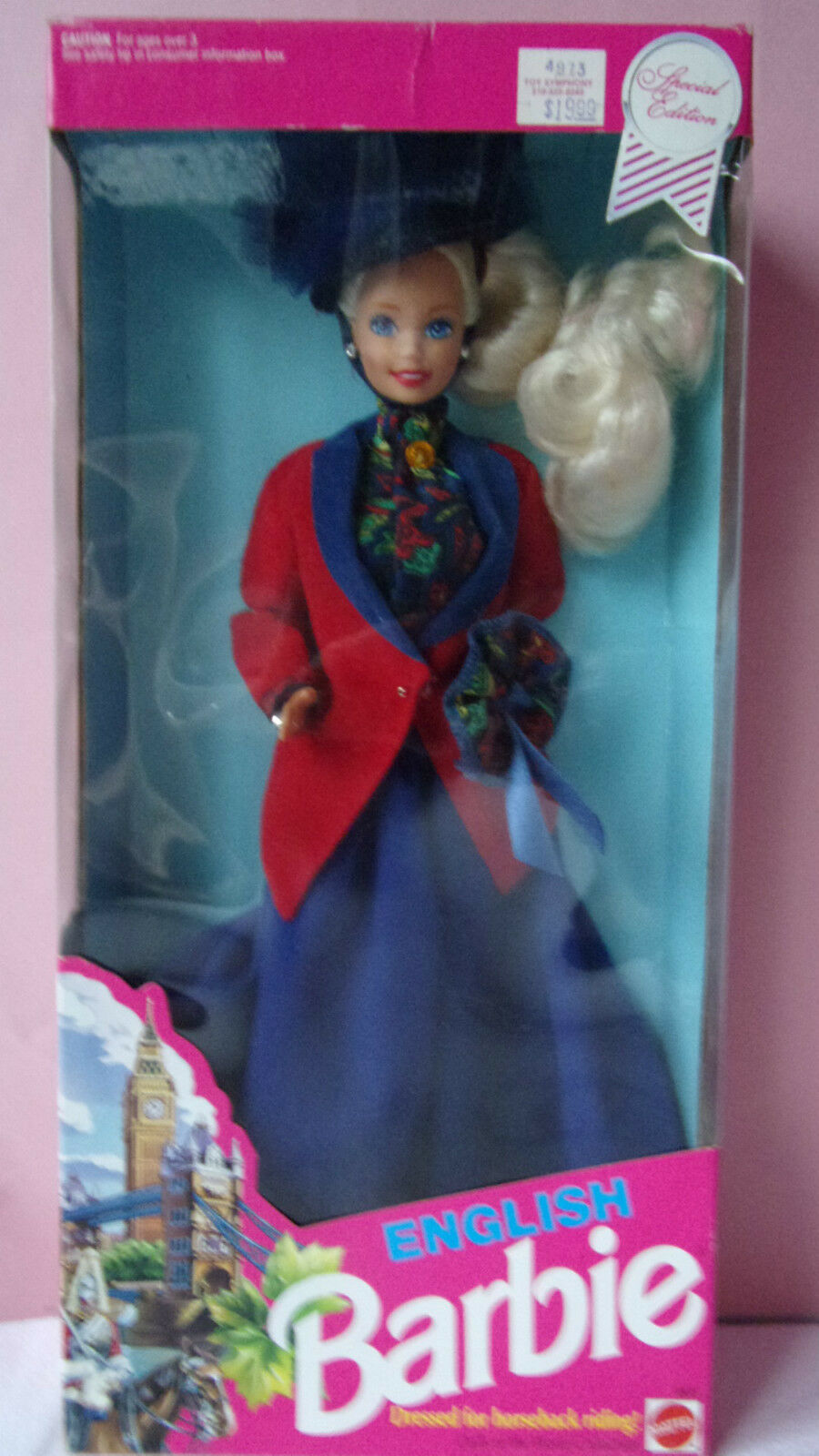BARBIE  Doll Poupées Du Monde-  Blonde 1991 ANGLAISE ENGLISH 4973