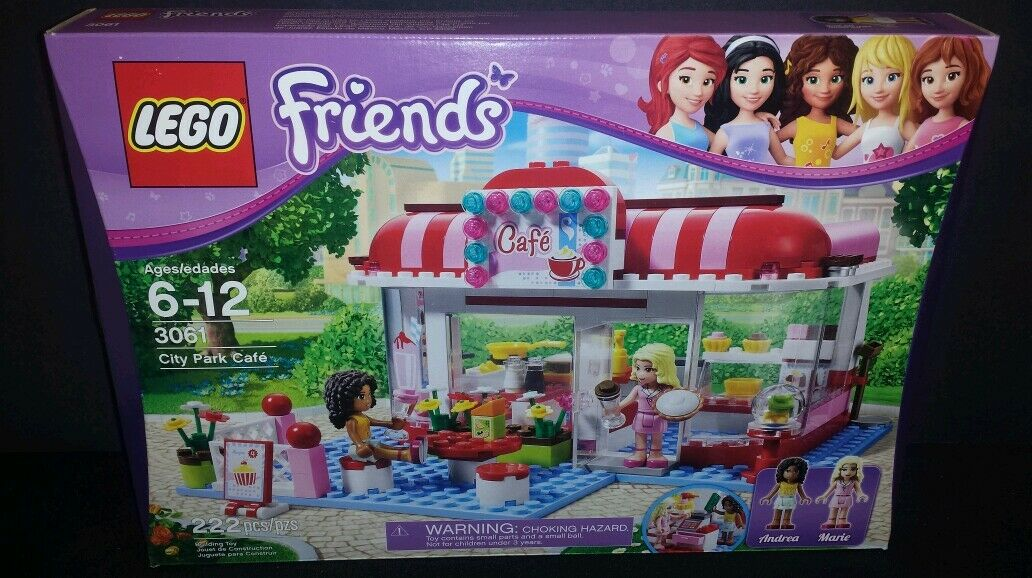 LEGO Friends City Park Café 3061 222 Pieces Andrea Andrea Andrea & Marie Retired Sealed New 352dfc