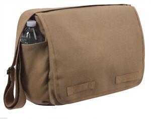 Image Is Loading Vintage Military Style Messenger Bag Shoulder Strap Coyote