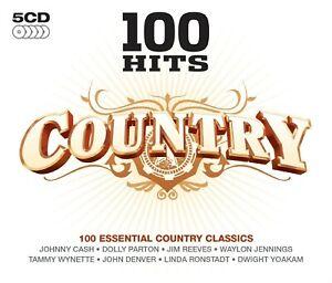 100-Hits-Country-5-cd-neuf-TANYA-Tucher-Jack-Green-Lynn-Anderson-Box-Set