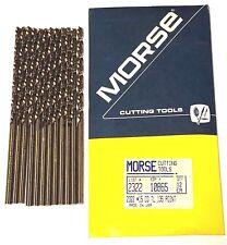 Morse 15 Cobalt Drill Bit Heavy Duty 135 Split Point Taper Length 12 Pack Usa