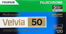 Fujifilm Velvia 50 120 diafilme 5 películas expiry date 02/2017 precio especial!!!