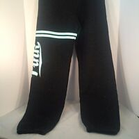 Victoria Secret Pink Authentic Sweats Charcoal Speckled Aqua Graphics Size Xp