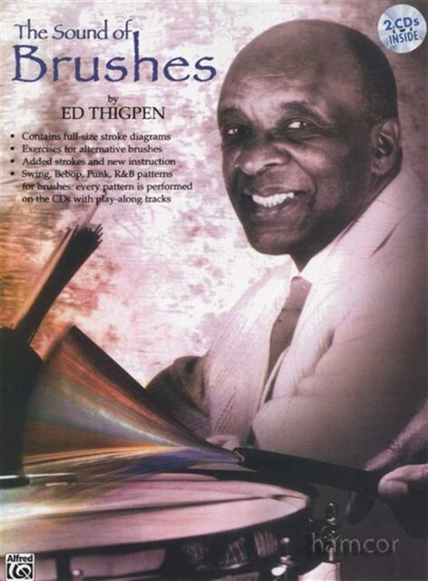 The Sound of Brushes Ed Thigpen Drum Music Book/2CDs Swing Bebop Funk R&B