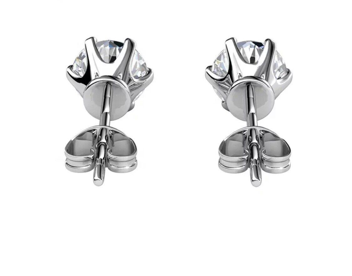 Moissanite Diamant 1ct VVS1 Ohrstecker Ohrringe 925 Silber mit GRA Zertifikat