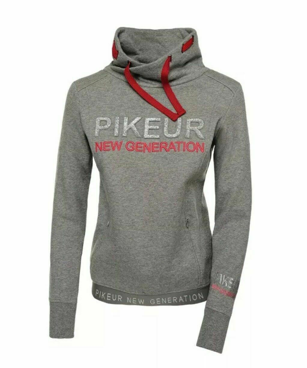 Pikeur Next Generation Gracelynn Hoodie Sweatshirt Top ladies grey 36  38  outlet factory shop