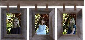 Wood Picture Frame 3Set Collage Unpainted Photo Barn Wall Display Hanging Rustic