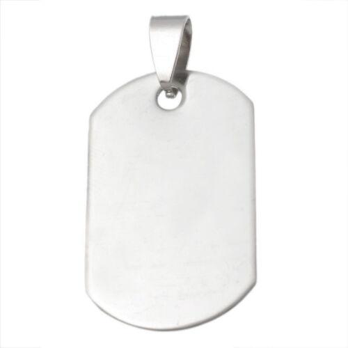10 Pendentifs Acier inoxydable Pour Collier Bijoux Fermoir 3.9x2cm