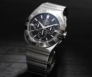 Omega Swiss Made Chrono Double Eagle Co-Axial Stainless Steel Men's Watch