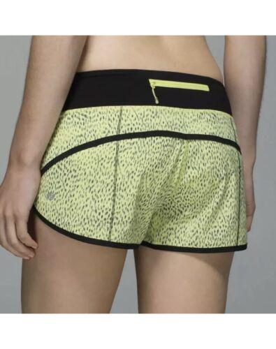 Lululemon Women Run Speed Shorts Dottie Dash Clari