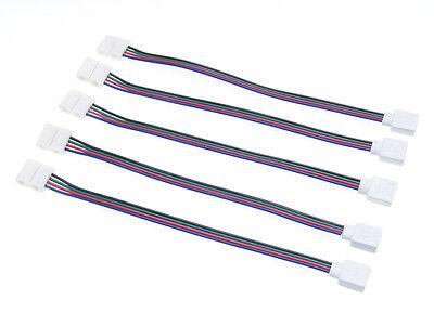 5 x Verbinder Led Stripe RGB 4 Pin Pole Clip Verbindung Schnellverbinder Strip