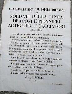 1848-17-ECCEZIONALE-MANIFESTO-MILITARE-SULLA-RIVOLUZIONE-DI-MODENA