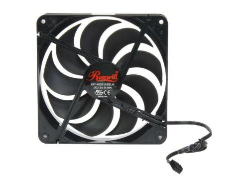 140mm Computer Case Cooling Fan LP4 Adapter Quiet 2 Pack Rosewill