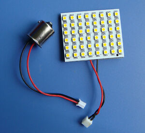 10x-Warm-White-LED-Dome-bulb-48-1210-SMD-LED-10pcs-Adapter-1156-1141-BA15S