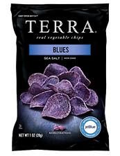 Terra Real Vegetable Chips Natural Blues Potato Sea Salt 1oz. 24 Pc Snack Party