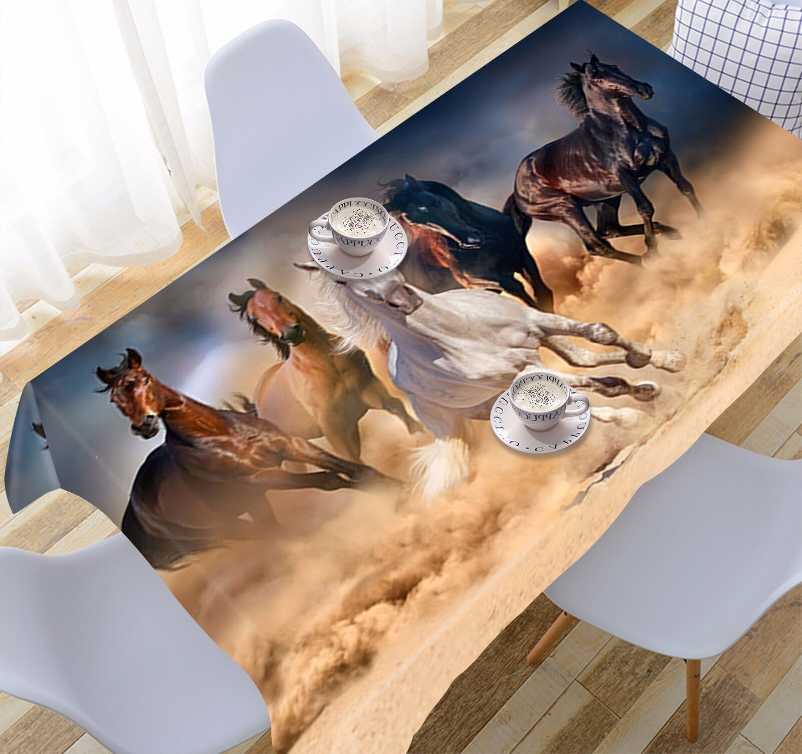 3D Horse 987 Tablecloth Table Cover Cloth Birthday Party Event AJ WALLPAPER AU