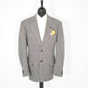 Fabulous Walbusch Harris Tweed Vintage Blazer Grey Windowpane 54L