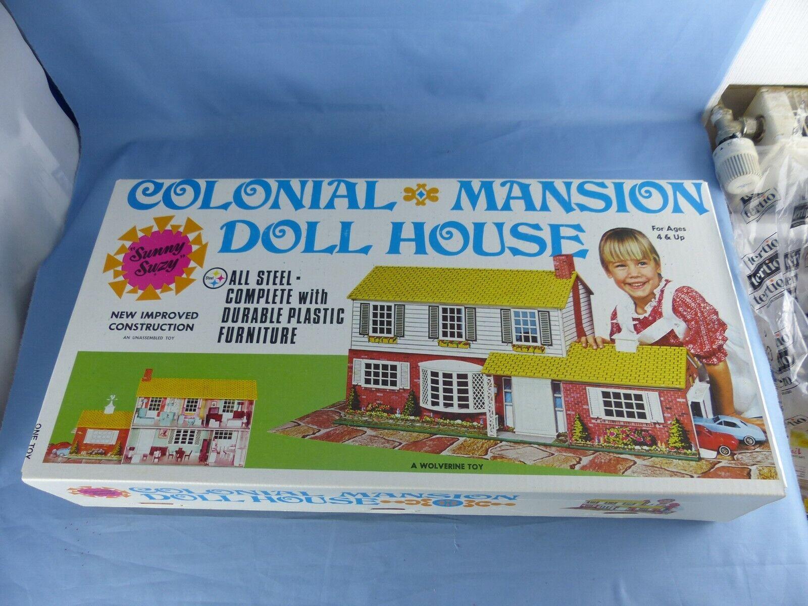 WOLVERINE TOY COLONIAL MANSION DOLL HOUSE TIN maison de poupée tôle litho N° 826