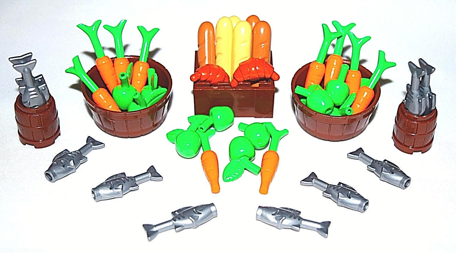 ☀️NEW Lego 45 pc FISH MARKET FRUIT FRUIT FRUIT VEGETABLE Food Dinner Feast Chef meal FEAST 57c2e5