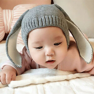 2017-Cute-Autumn-Winter-For-Toddler-Infant-Knitted-Baby-Hat-Rabbit-Long-Ear-Best