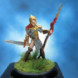 Painted-RAFM-Miniatures-Female-Fighter