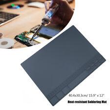Silicone Workbench Work Desk Heat Resistant Insulation Mat Soldering Welding Pad