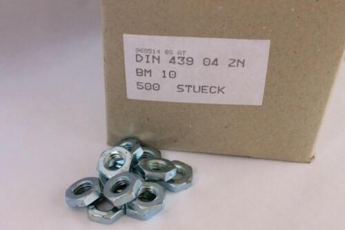 DIN 439 M10 verzinkt Mutter 500 Sechskantmutter 6-Kant flache Form