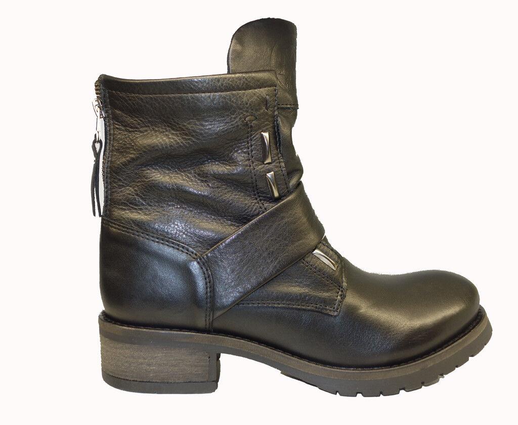 Maca Kitzbuehel Biker-Stiefel Stiefelette schwarz 2358