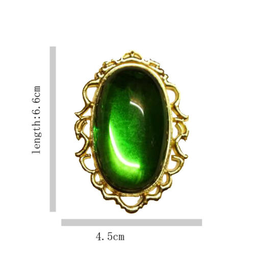 Violet Evergarden Cospaly Green Jade Bolo Tie Necklace Pendant Accessories