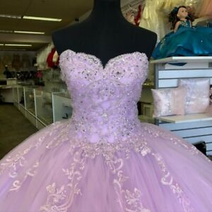 purple sweet 16 quinceanera dresses beaded lace applique