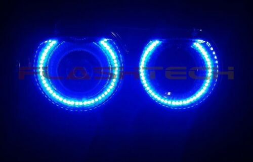 Flashtech Bright Blue LED Halo Ring Headlight Kit for Dodge Challenger 15-17