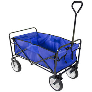 Foldable Pull Along Wagon Garden Trailer Hand Cart