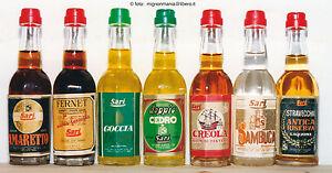 Lotto-7-mignon-bottigliette-miniature-Sari-distilleria-Gussago-liquori-vari