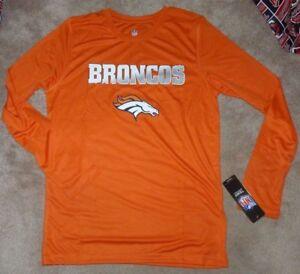 huge sale 3675d 3c358 Details about NEW NFL (small flaw) Denver Broncos L/S Long Sleeve T Shirt  Youth L Large 14 16