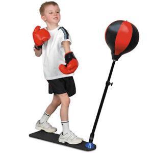 JUNIOR-BOXING-SET-KIDS-PUNCH-BAG-BALL-amp-MITTS-GLOVES-KIT-CHILDREN-FREE-STANDING