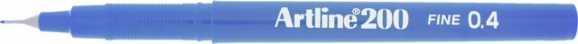 Artline 200 Royal Blue Fineliner Technical Drawing Pen Extra Fine Point X 12