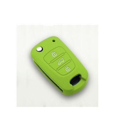 Hyundai Couleur Vert Housse de clé silicone 3 boutons Kia