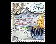 Zwitserland 2015  100 jr  FDC  munt op postzegel   postfris - mnh