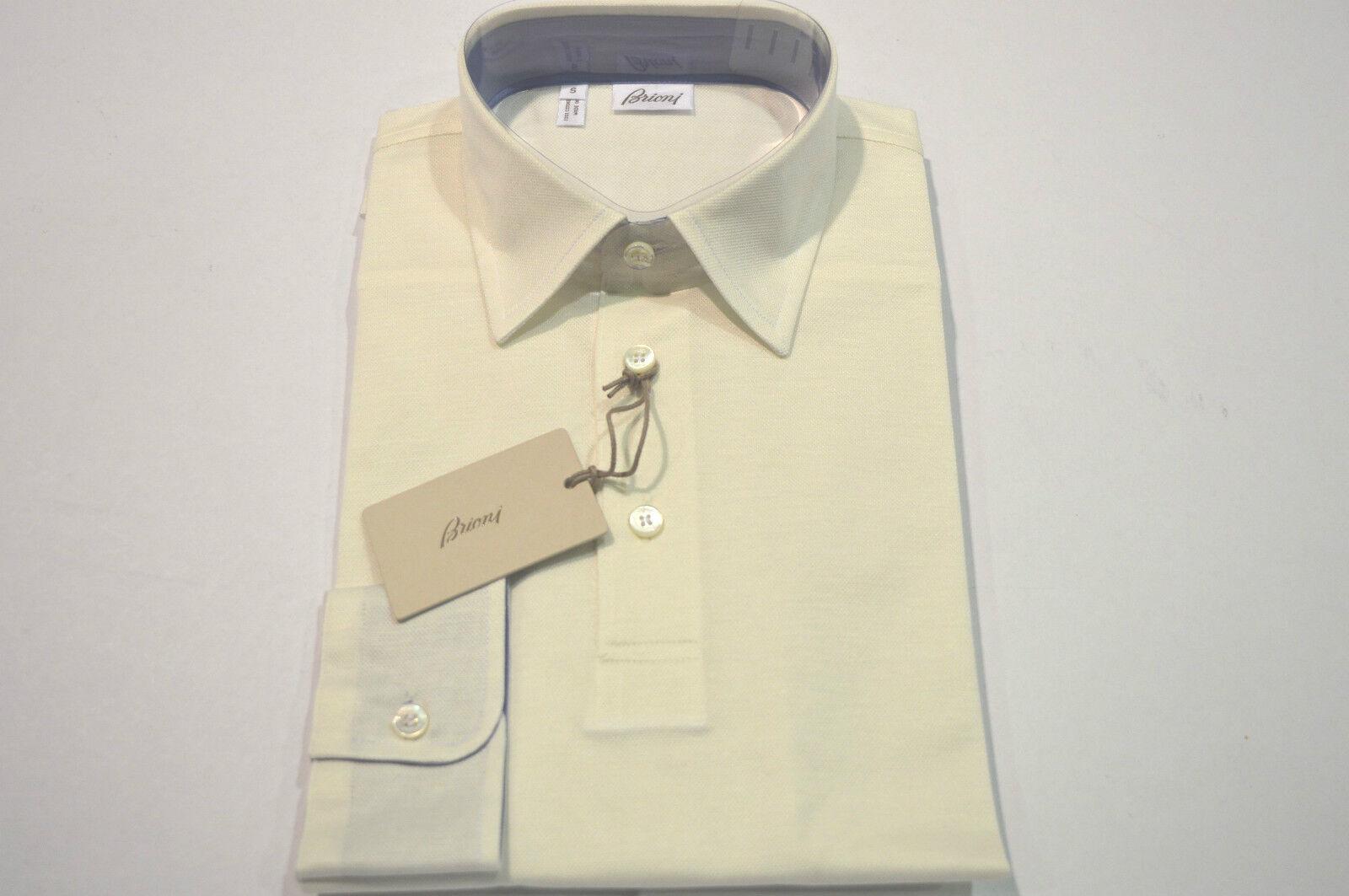 NEW BRIONI  Polo 100% Cotton  Long sleeve  Größe S Us 48 Eu (Cod B)