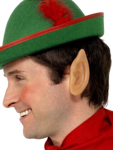 SOFT VINYL POINTED ELF EARS MENS LADIES ELF CHRISTMAS FANCY DRESS ACCESSORY