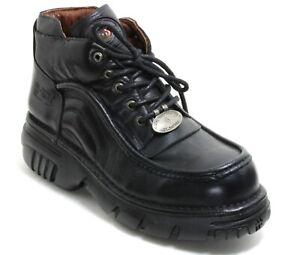 93 Stiefel Plateau Gothic Leder Boots New Rock 664 Planet Metall Original 45